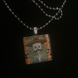 Jewelry - Scrabble Tile Day Of Dead NECKLACE